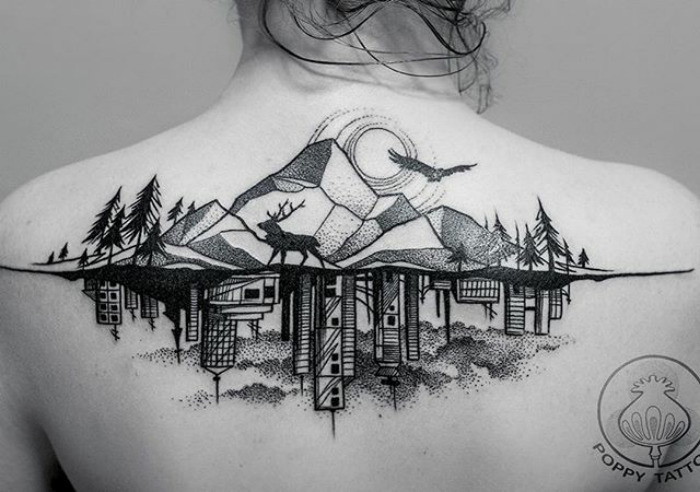 Architektúra na tele? Toto je zopár neuveriteľne krásnych tetovaní so vzormi rôznych budov