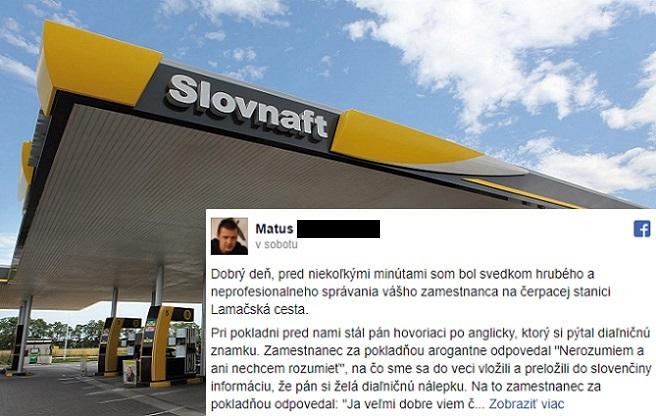 Slovenský pokladník odmietol na benzínke obslúžiť cudzinca. Od rasistických názorov neupustil ani keď sa do problému zapojili ďalší Slováci