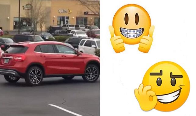 Drsná lekcia: Arogantný vodič luxusného auta zaparkoval cez 2 parkovacie miesta. Toto ho čakalo, keď sa vrátil k vozidlu