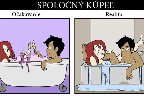 Očakávanie vs. realita: Tieto 4 vtipné ilustrácie vám ukážu, ako vyzerá romantika vo vzťahu