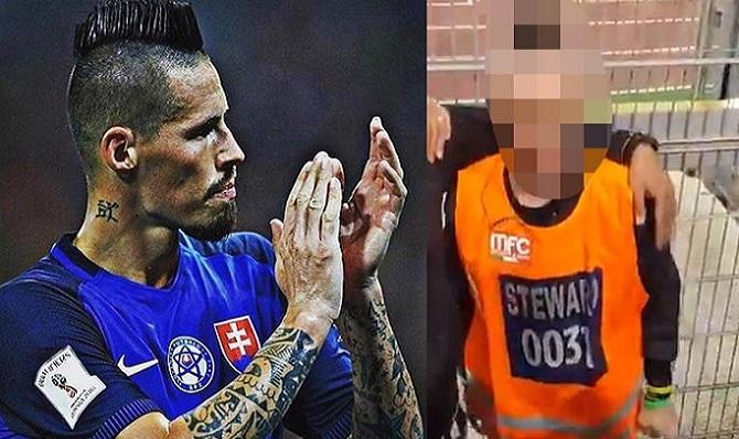 Usporiadateľ vyzerá rovnako ako futbalista Marek Hamšík: Takto reagovali futbaloví fanúšikovia, keď si ho všimli