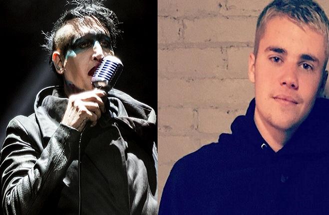 Marilyn Manson sa poriadne pustil do Justina Biebera! Znechutilo ho, čo nosí na tričkách