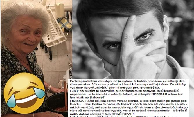 Mladý Slovák sa rozhodol podeliť o vtipné príhody so svojou starkou na internete. Prostoreká babička a jej hlášky ťa úplne odrovnajú