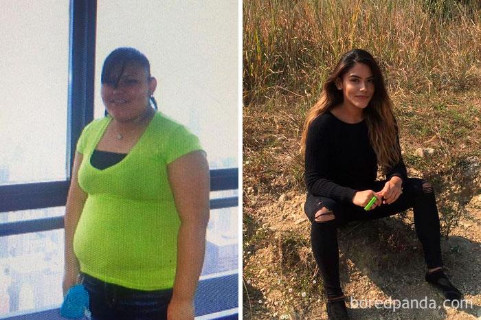 """Trpíte nadváhou a chcete to zmeniť? Inšpirovať vás môžu ľudia na týchto fotografiách, ktorí dokázali prekonať sami seba a zhodiť """"pár"""" kíl"""