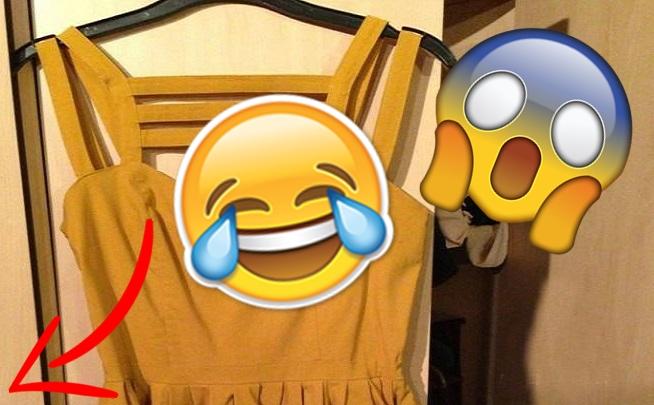 Slečinka sa rozhodla predať cez internet svoje šaty. Keď však inzerát zdieľala, ľudia si začali všímať pikantný detail
