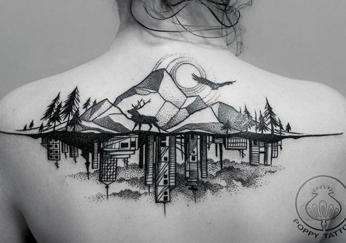 Architektúra ako tetovanie? V dnešnej dobe je to bežnou záležitosťou. Nahliadni na povrch tela ľudí, ktorí majú pod kožou takýto kúsok