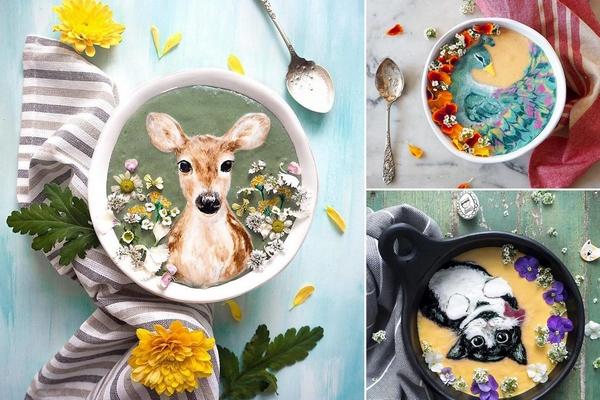 Umelkyňa premieňa smoothie nápoje na jedinečné umelecké diela. Z jej výtvorov vám padne dole sánka!