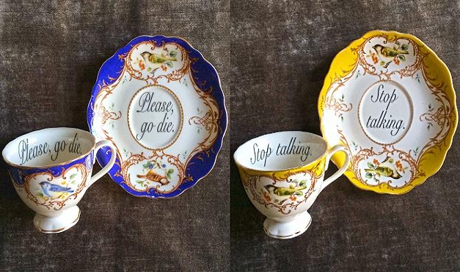 Chceš dať svojim blízkym poriadne originálny a úprimný darček? Tieto šálky a tanieriky sú to pravé