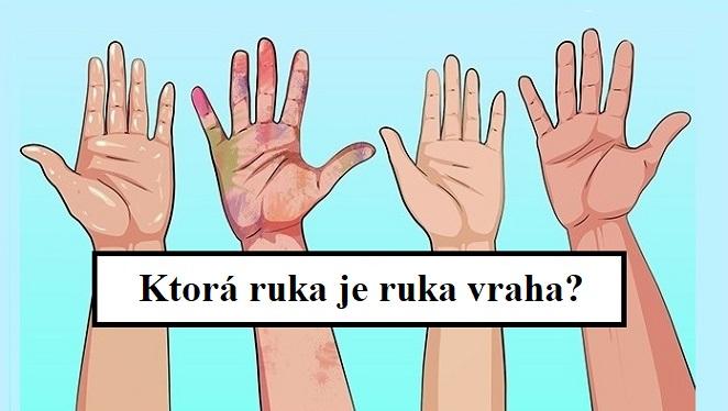 Jedna z rúk je rukou vraha! Dokážeš so svojim detektívnym zmýšľaním prísť na to, kto zabíjal?