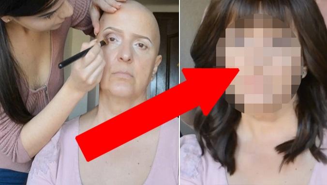 Vizážistka zmenila svoju matku trpiacu rakovinou na nepoznanie. Jej premena vyráža dych