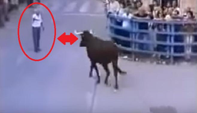 Starček sa postavil do cesty rozzúrenému býkovi. To, čo nasledovalo, je priam nepochopiteľné
