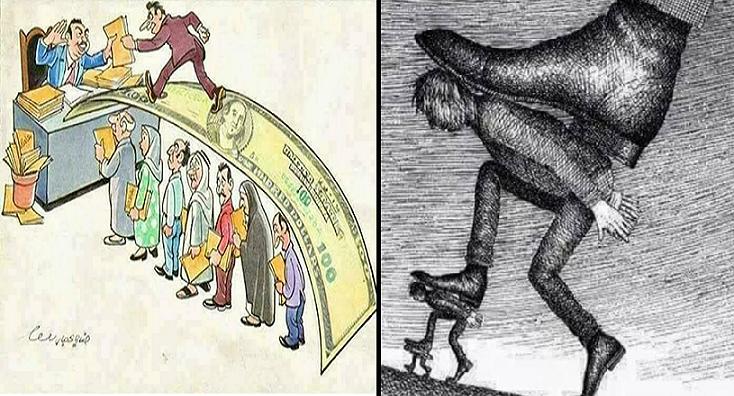 Ilustrácie, ktoré nepotrebujú komentár: Peniaze a moc ovládajú celý svet