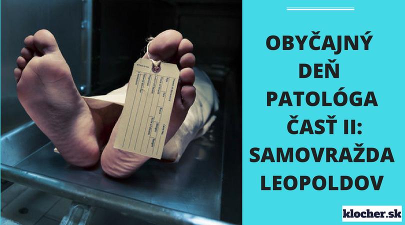 Obyčajný deň patológa ČASŤ II: SAMOVRAŽDA LEOPOLDOV