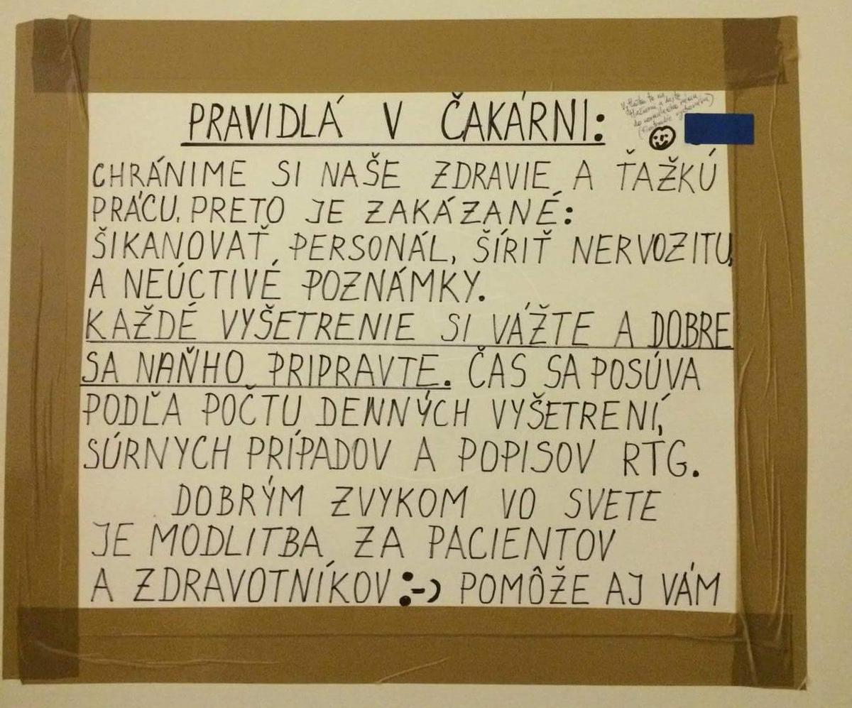 TOP 10 nápisov na dverách slovenských ambulancií