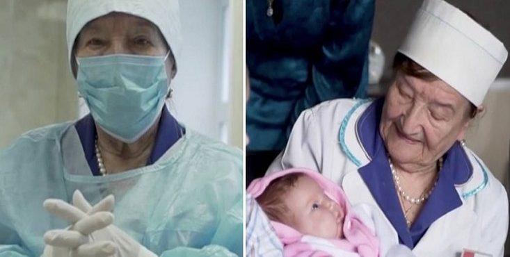 Táto pôrodníčka má neuveriteľných 94 rokov. Deťom pomáha na svet už viac než 7 desaťročí