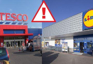 Zbystrite pozornosť! Tesco a Lidl varujú zákazníkov, že museli stiahnuť TIETO nebezpečné výrobky