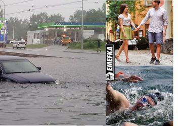 V Bratislave a okolí zaplavilo niekoľko ulíc. Internet sa plní vtipnými obrázkami hlavného mesta!
