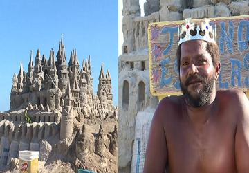 Má prezývku kráľ a nie je to náhodou. Už 22 rokov žije v hradoch z piesku, ktoré si sám stavia