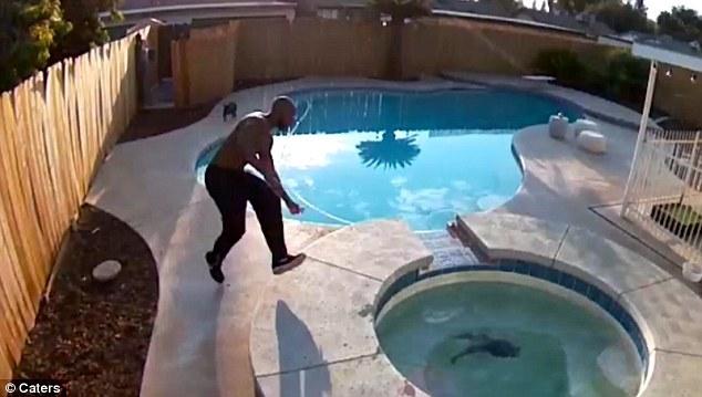 VIDEO: Muž zachránil bezbranné šteniatko topiace sa v horúcej vírivke