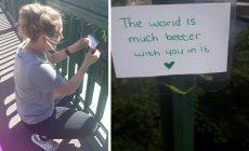 Dievča sa rozhodlo bojovať proti samovraždám: Na moste, kde chcú ľudia ukončiť svoj život, necháva silné odkazy. Tie už zachránili nejeden život