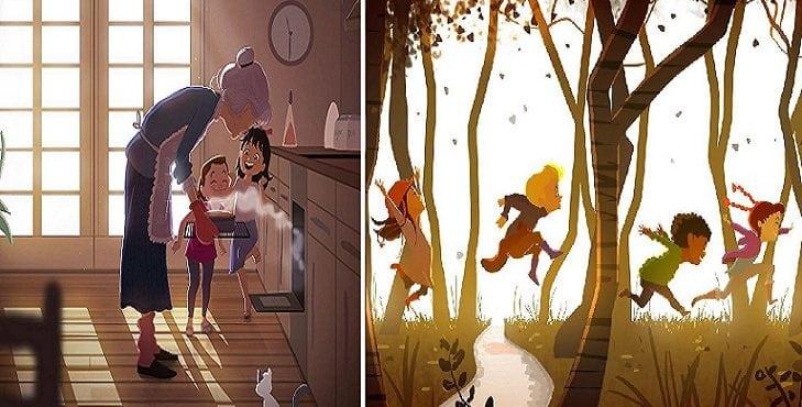 Detstvo patrí k najkrajším obdobiam v živote. Pripomeňte si prostredníctvom ilustrácií jeho čaro