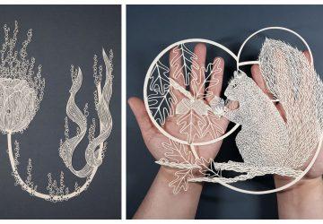 Pipa Dyrlaga je najtrpezlivejšia žena na svete: Na vytvorenie svojich umeleckých dielok jej stačí iba hárok papiera a tenučký skalpel