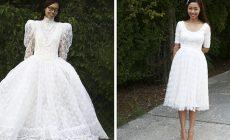 Matka recykluje staré oblečenie a vytvára z nich nádherné trendy kúsky. Takto napríklad vylepšila staré svadobné šaty