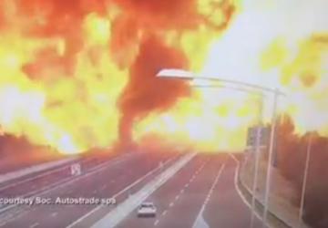 VIDEO: Obrovská tragédia – na frekventovanej diaľnici explodovala cisterna plná horľaviny