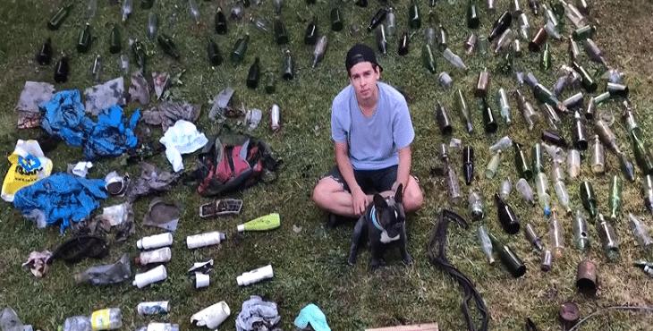 Patrik nedávno vyzbieral v slovenských lesoch viac než 100 kíl odpadu. Teraz natočil video o tom, aká je situácia v našej prírode