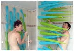 Ekologické závesy, ktoré vás naučia šetriť vodou počas sprchovania