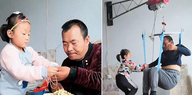Toto dievčatko je hrdinka. Vo veku 6 rokov sa stará o svojho ochrnutého ocka