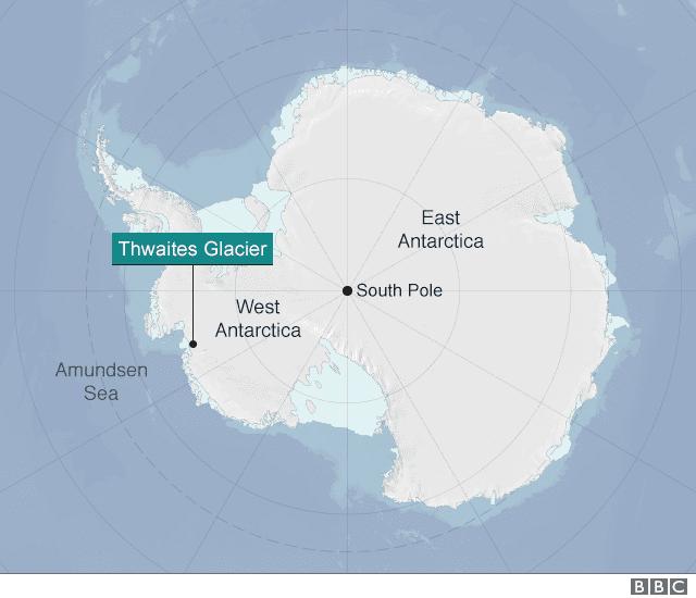 priepasť pod Antarktídou