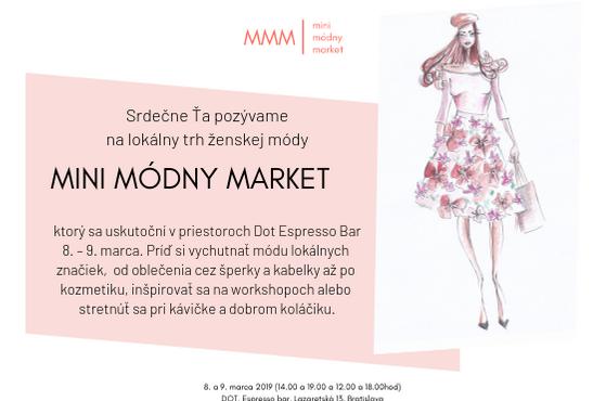 Príďte na Mini Módny Market a ulovte si už zajtra svoj unikátny kúsok od slovenských dizajnérok