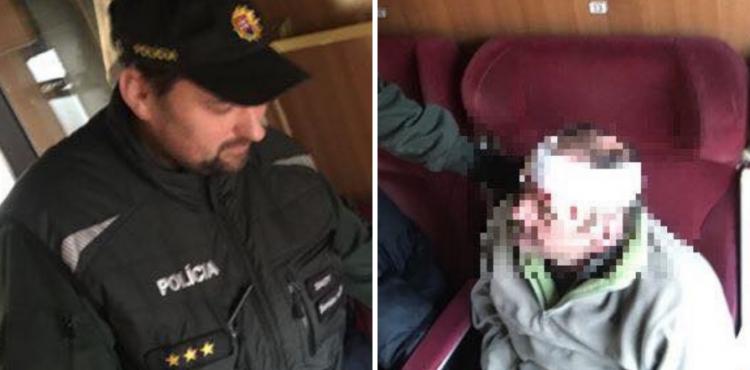 Policajti zachránili ležiaceho starčeka v kupé vlaku