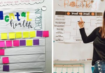 Učiteľka Erin vytvorila sériu plagátov pre študentov, aby mohli vyjadriť to, ako sa práve cítia. Chcela tým znížiť počet samovrážd