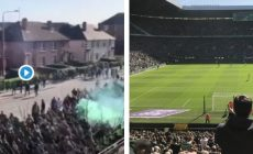 Derby v Glasgowe: zápas sprevádzala hromadná bitka, dobodali troch fanúšikov