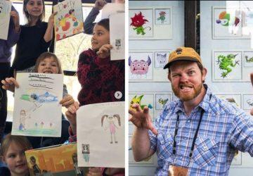 Umelec dva roky vyzýval deti, aby mu posielali kresby príšeriek. Prekresľoval ich a predstavil na jedinečnej výstave