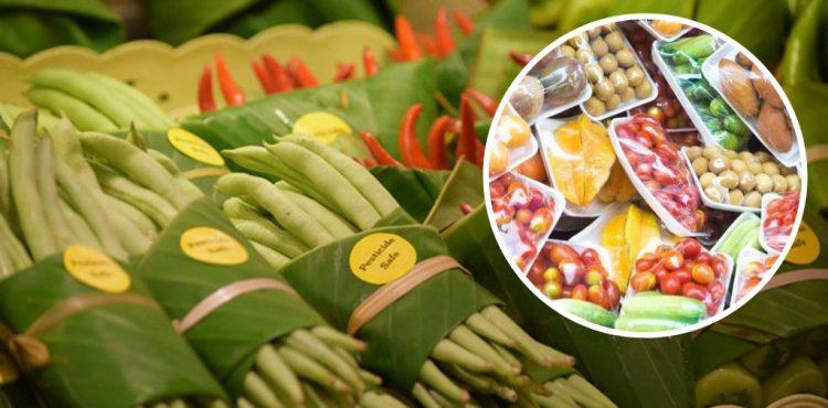 Inšpirujme sa! V ázijských supermarketoch predávajú ovocie a zeleninu zabalenú v listoch