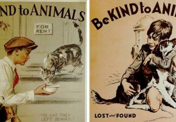 Tieto retro plagáty z 30. rokov minulého storočia vám roztopia srdce. Už vtedy šírili lásku a rešpekt k zvieratám