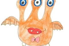 Monsterka Ella. Autor: Vanesska M. (7 rokov)